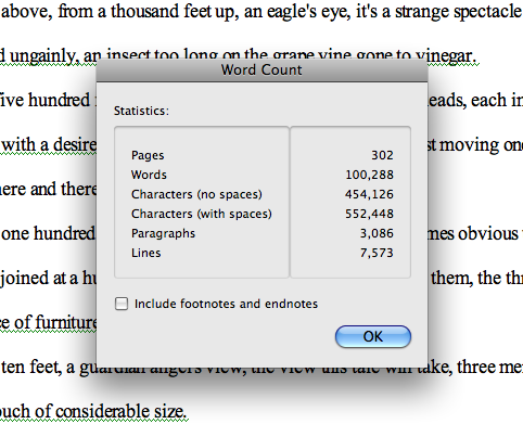 Couch word count