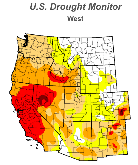 US West Drought Conditions as of January 21, 2014